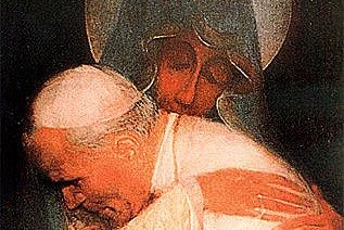 Free Pope John Paul II Holy Card
