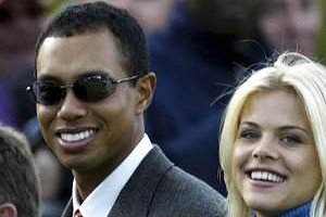 Tiger and his wife, Elin, before their divorce