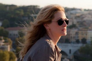 Julia Roberts begins her quest to 'Eat Pray Love' in Rome.