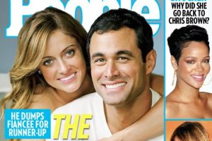 "Molly and Jason Mesnick from ""The Bachelor"" on the cover of People"