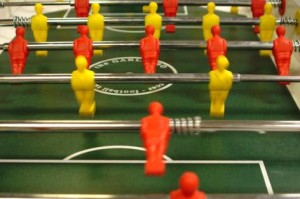 Fierce foosball matches have marked many lunch breaks at CatholicMatch HQ.