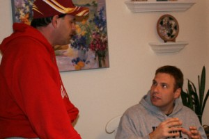A love of college football sparked Dan Flaherty's friendship with Brian Barcaro.