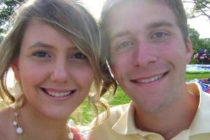 This engaged couple are both enrolled in podiatry school in Chicago.
