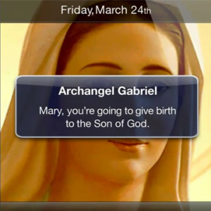 Nativity Story Text Message to Mary