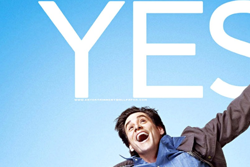"Jim Carrey embraces life in the movie ""Yes Man"""
