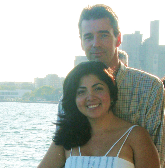 Estella was raised in Puerto Rico and Richard, in Canada. They met on CatholicMatch.com.