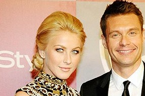 Date night: Julianne Hough & Ryan Seacrest at the 2011 Golden Globes