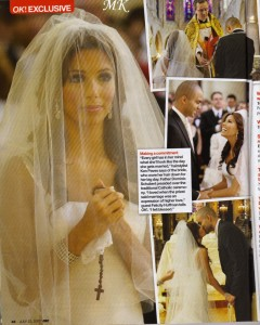 Eva Longoria held a rosary on her wedding day.