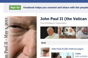 Pope John Paul II has a new Facebook page
