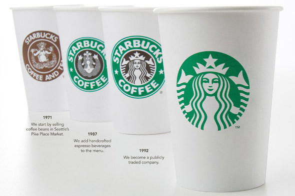 The Starbucks logo has undergone multiple changes over the years.