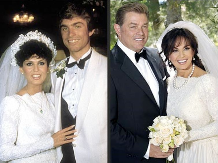 Marie Osmond remarried her first husband wearing the same dress