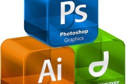 The tools of a web designer's trade: Photoshop, Illustrator and Dreamweaver
