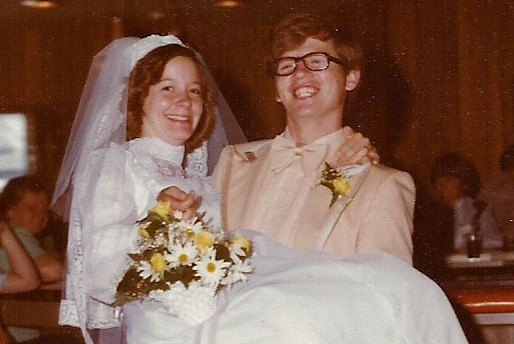 Carrying his bride on their wedding day -- Barb & Steve