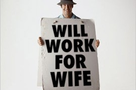 75% of women would not marry a man without a job.