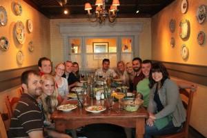 The Zimanske cousins at a recent cousin dinner.
