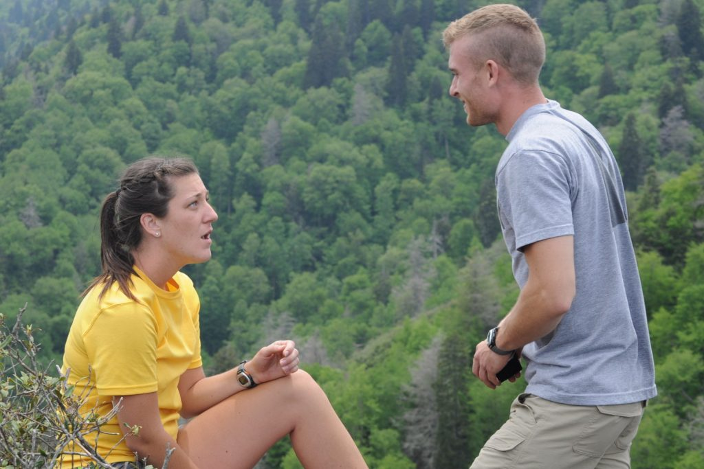 Jordan surprised Kelly on a 4-mile hike