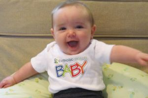 Ginny's parents met on CatholicMatch.com. She is 5-months-old.