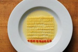 "Orderly alphabet soup by Ursus Wehrli, who is ""totally deranged tidy"""