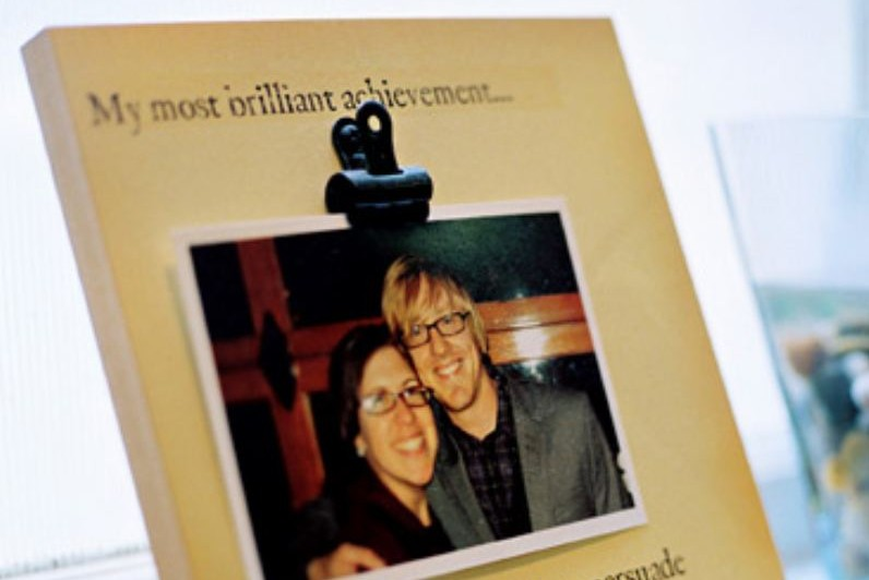 Photographs & memories of a deceased spouse aren't easy to see