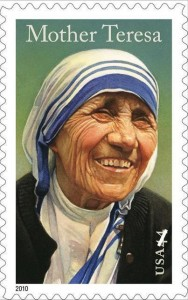 The U.S. Postal Service dedicated a Mother Teresa stamp in September 2010.