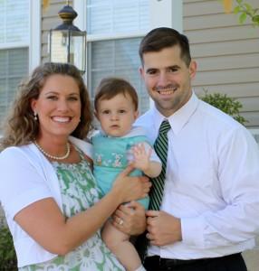 Stephanie & Peter Weinert with their firstborn, Mark