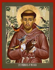 St. Francis of Assisi, patron saint of pets and pet owners, founded the Franciscan order
