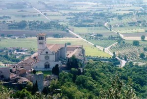 Overlooking the Basilica of St. Francis in Assisi, Italy