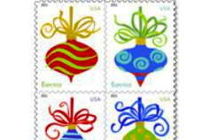 "Christmas ornaments, aka ""holiday baubles,"" issued by the U.S. Postal Service in 2011"