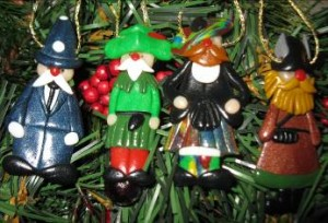 Honeymoon souvenir: a Christmas tree ornament