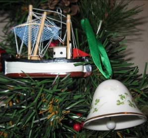 Simple trinkets suffice as Christmas tree ornaments