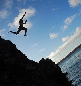A leap of faith: Starting your own company is scary and exhilarating all at once!