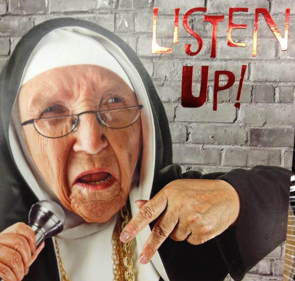"American Greetings' ""Sister Mary Margaret Mayhem"" offers a birthday rap"
