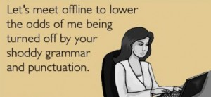 Bad grammar is a turn-off, some singles say