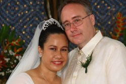 James & Vina crossed the Pacific to be with each other.
