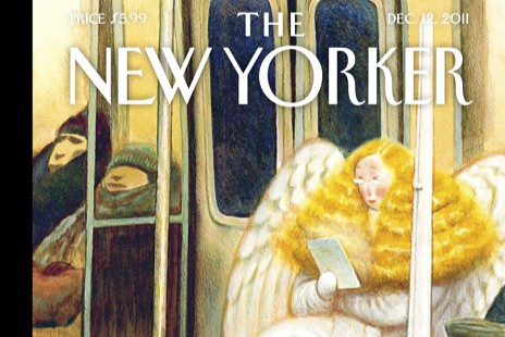 "The New Yorker's ""Subway Angel"" appeared on the cover of its Dec. 12, 2011 issue"