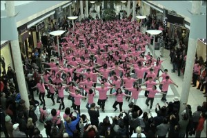 Some flash mobs involve matching outfits