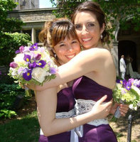 Previously the bridesmaid, Denise (at right) will finally be the bride this coming June.