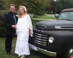 Having wed back in August, Barb & Gary are ready to start down life's highway together.