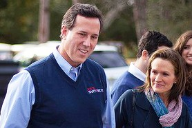 Sen. Rick Santorum (with his wife) speaks about Theology of the Body and church teaching on contraception