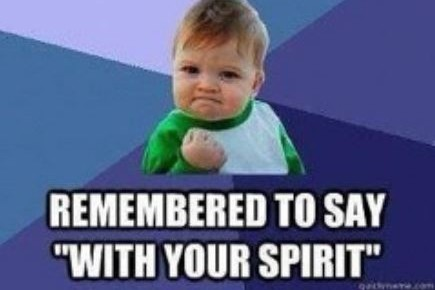 Catholic humor: Are you remembering the new Mass parts? This kid is!