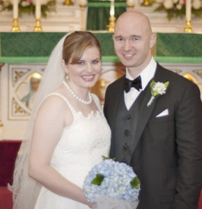 Bart & Nikole had a long distance to navigate but faith and good humor brought them together.