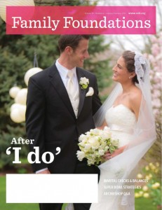 The January-February 2012 issue of Family Foundations features a CatholicMatch couple, Paul and Regina Bailey