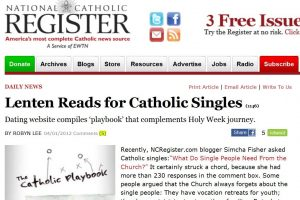 The National Catholic Register reported on CatholicMatch's Lenten book