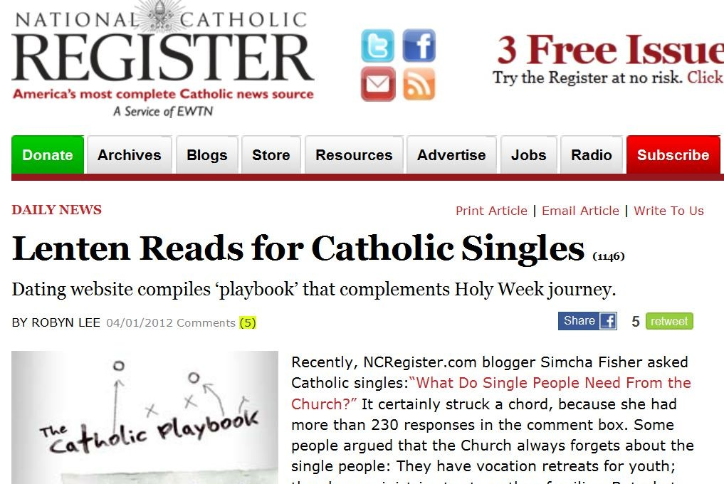 new home catholic singles If you feeling lonely and want to meet new people, just sign up on our site and start chatting and meeting local singles free catholic singles.