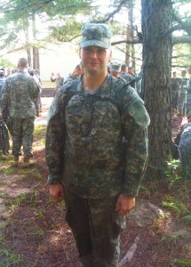 Jake Greiner, who is becoming a Roman Catholic priest, served in the National Guard