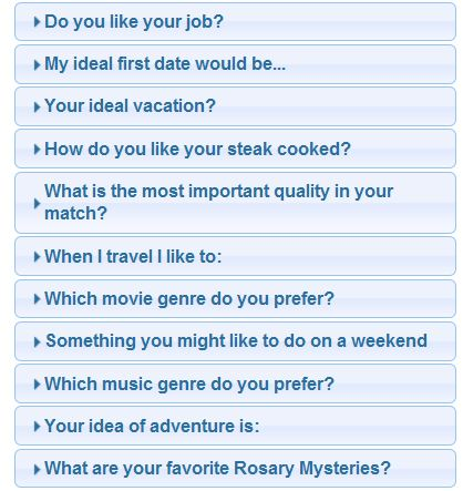 match dating questions From match to zoosk, these dating sites are worth your time  rather than  asking its users for dating questions, zoosk picks dates for its users based on a  user's.