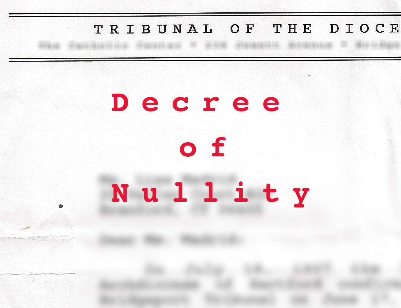 Decree of nullity form