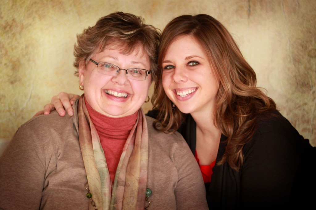 Jessica Zimanske and her mom, Theresa, attend Mass together on Mother's Day