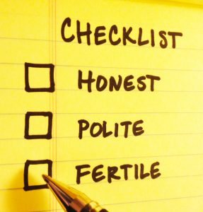 Is fertility on your dating checklist? Should it be? Mary Beth Bonacci advises single men.