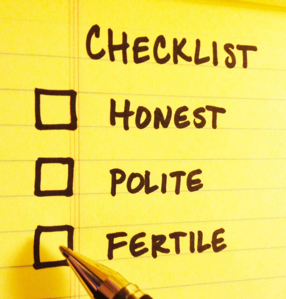 Is fertility on your dating checklist? Should it be? Mary Beth Bonacci advises single men.